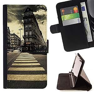 Jordan Colourful Shop - London vintage architecture vignette For Sony Xperia Z3 D6603 - Leather Case Absorci???¡¯???€????€???????&bdq