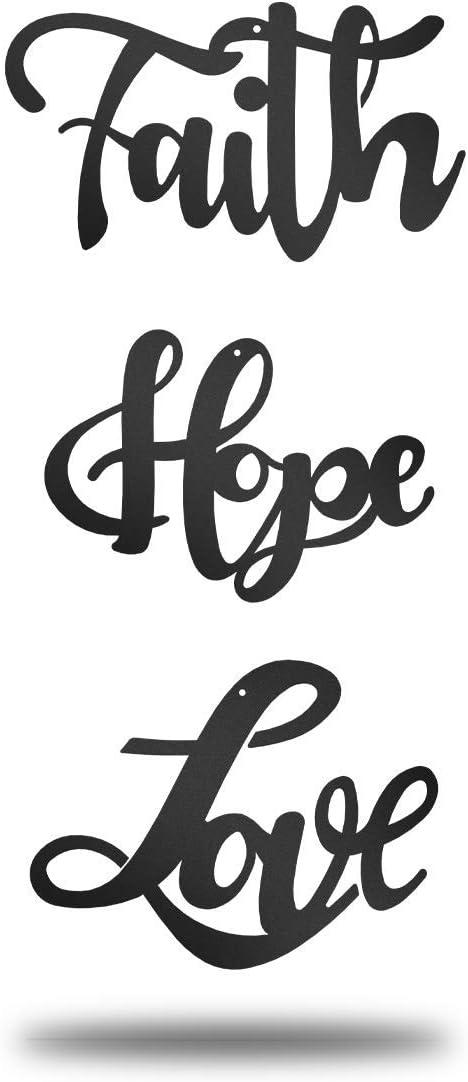 Hope Black - Set of 3 Faith Redline Steel Love Collection Set of 3 Items