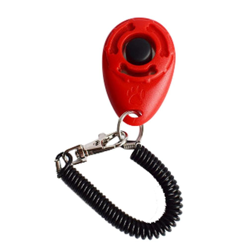 Sunward 1 PC Training Clicker Pet Dog Trainer Tool Set with Strap for Puppy, Cat, Kitten, Bunny (Red)