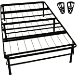 epic furnishings durabed steel foundation frame in one mattress support system foldable bed frame with headboard attaching