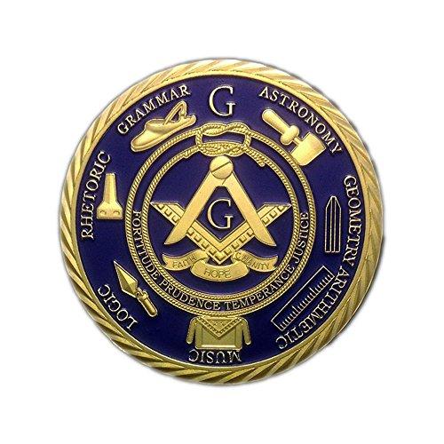 1 OZ Freemason Coins 24K Gold Coated by skyfire