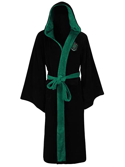 Amazon.com: Official Harry Potter Hogwarts Slytherin Wizard Fleece ...