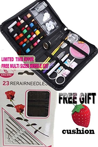 Mini Sewing Kit ,The Basic Sewing kit Includes Thread Needles and Accessories Perfect for Beginners Kids Adults Students Travel Home and Emergency Repair Use. (Black)