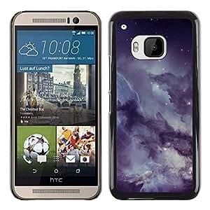 // PHONE CASE GIFT // Duro Estuche protector PC Cáscara Plástico Carcasa Funda Hard Protective Case for HTC One M9 / Misty nublado estrellado cielo nocturno /