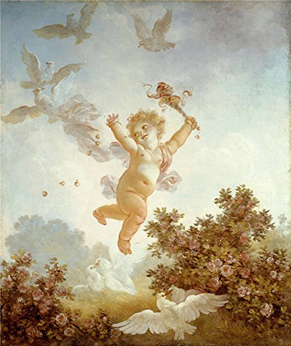 Oil Painting 'Jean-Honore Fragonard - The Progress Of Love - Love The Jester, 1790-91' 8 x 10 inch / 20 x 24 cm , on High Definition HD canvas prints is for Gifts And Bed Room, Gym And Nursery decor