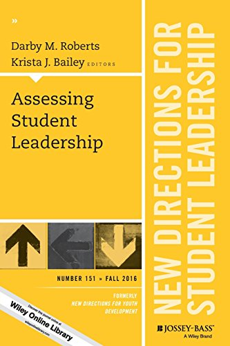 Assessing Student Leadership: New Directions for Student Leadership, Number 151 (J-B SL Single Issue Student Leadership)
