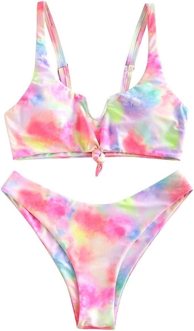 Zaful - Bikini acolchado de dos piezas para mujer: Amazon.es: Ropa y accesorios