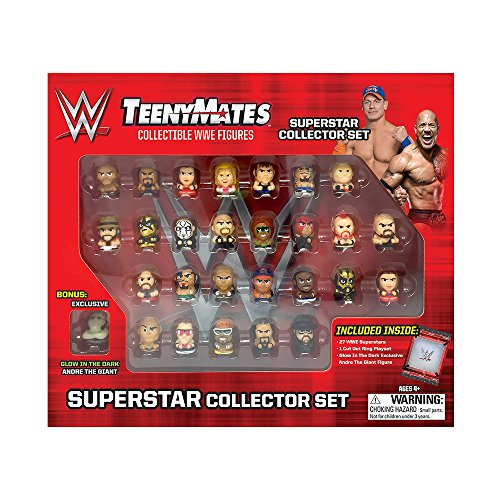 "TeenyMates WWE Superstar Collector Set, 27 WWE TeenyMates 1"" Figures (Collector Wrestling Figure)"