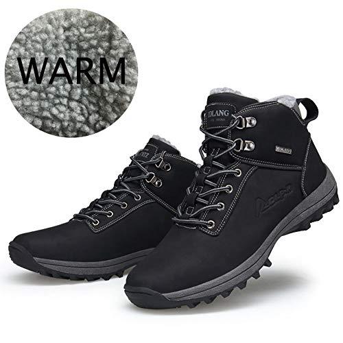 Botas Trekking Negro Antideslizante Nieve Calientes Zapatillas De Hombre Mujer Impermeables Botines Invierno Senderismo 5XnqaW1xw7