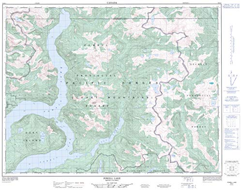 Powell Lake - 92 K/1 - British Columbia - 32.25
