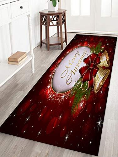 WSHINE 15.7 47.2 Christmas Bell Extrance Floor Runner Rug Kitchen Mats Indoor Outdoor Doormat Window Room Mat, Star