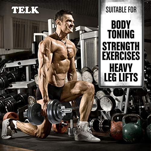 TELK Adjustable Dumbbells, Available for 45, 65, 105 and 200 lbs