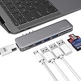USB C Hub, dodocool USB C Adapter Pass-Through Charging Type-C Hub 7 in