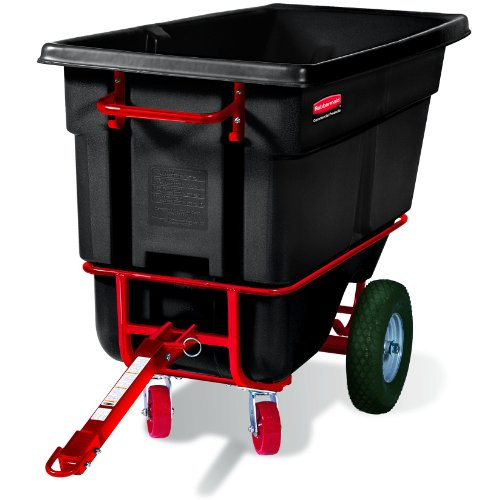 Rubbermaid Commercial Towable Dump Truck, 1/2 Cu. Yd., Black