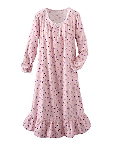 National Patricia's Floral Flannel Gown, Light Pink, Medium ()