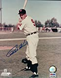 Ralph Kiner Signed Photograph - 8X10 Posing Bat COA - PSA/DNA Certified - Autographed MLB Photos