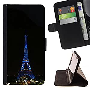 DEVIL CASE - FOR HTC Desire 820 - Architecture Eiffel Tower Tour Night - Style PU Leather Case Wallet Flip Stand Flap Closure Cover