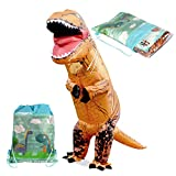 Tacobear Inflatable T-Rex Dinosaur Costume with Drawstring Bag Halloween Horror Party Fancy Dress Costume Party Outfit Suit for Adult and Kids (For Kid)