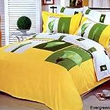 Evergreen 6 Piece Full / Queen Duvet Cover Bedding Set in Yellow