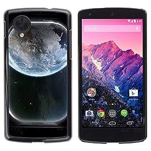 Be Good Phone Accessory // Dura Cáscara cubierta Protectora Caso Carcasa Funda de Protección para LG Google Nexus 5 D820 D821 // Earth Spaceship Window View Art Blue Planet