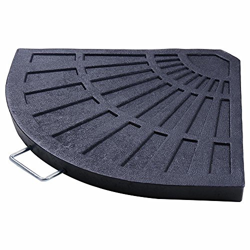 """Yescom 27lbs 19"""" Fan Shaped Resin Beton Base Stand Black for Outdoor Patio Offset Umbrella(Pack of 1)"""