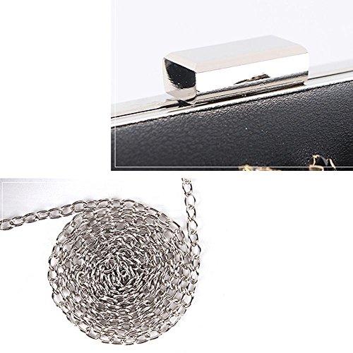 black Wgwioo diamante embrague bolso dama caja 5 5 11 nupcial Bag cm 17 x fiesta red bolso one de size noche boda paseo 4Xwq4Br