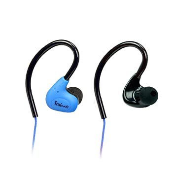 Amkette Pulse S6 691BL Headphones with Mic  Blue  Mobile Phone Wired Headsets