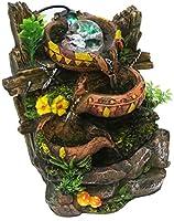 Fuentes decorativas Fuente de escritorio for interiores Fuente circular de 3 capas Fuente de agua corriente Roca de roca y bola giratoria Decoración del hogar Estanques y jardines de agua: Amazon.es: Hogar