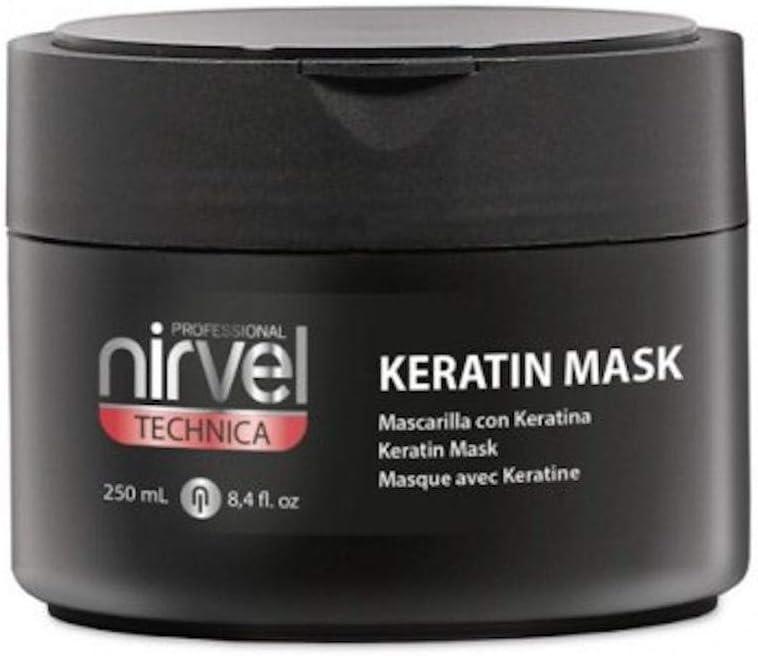 NIRVEL Technica MASCARILLA Keratin 250 ml, Negro, 250mL
