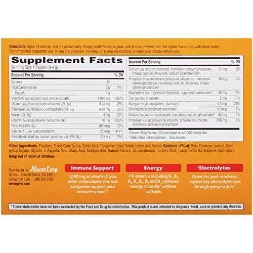 076314302024 - Emergen-C Vitamin C Drink Mix Packets Tangerine 30 Each (Pack of 6) carousel main 8