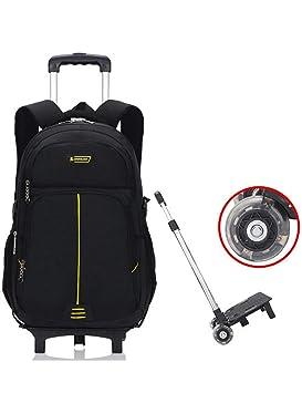 Mochila con Ruedas - Durable Rolling Daypack Bolsa de Viaje con Ruedas Elegante Daypack Bolsas de Viaje extraíbles para niños (2 Ruedas): Amazon.es: ...