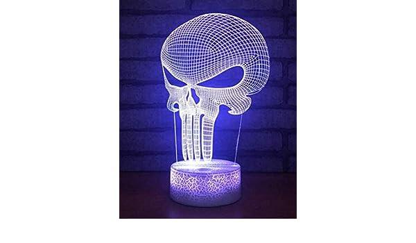 Nachtlicht Wandleuchte Led Lampe 3D Optische Täuschung Schädel Led ...