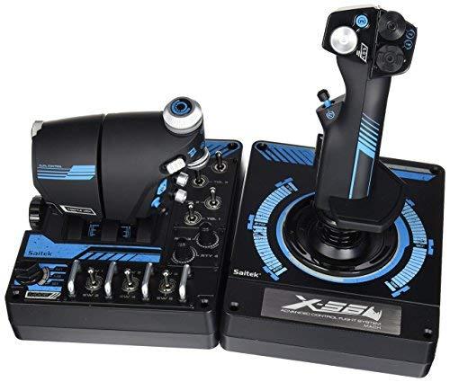 (Logitech Saitek Pro X-56 Rhino H.O.T.A.S. Video Game Flight Controller for PC (Certified)
