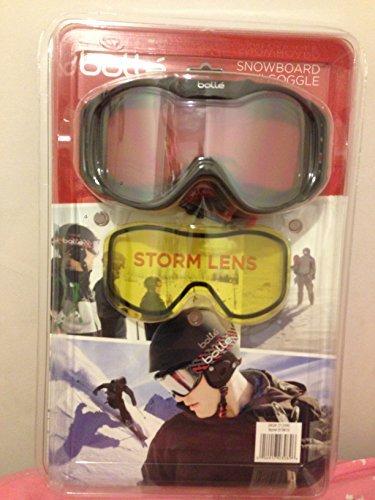 Bolle Snowboard Ski Goggle w/ Lemon Storm Lens, Black