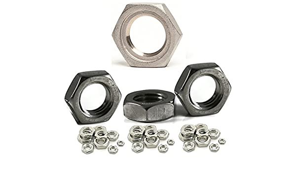 10 Bolt Base 10mm A2 Stainless Steel Fine Pitch Hexagon Half Lock Nuts Hex Thin Nut DIN 439 M10 X 1.0mm
