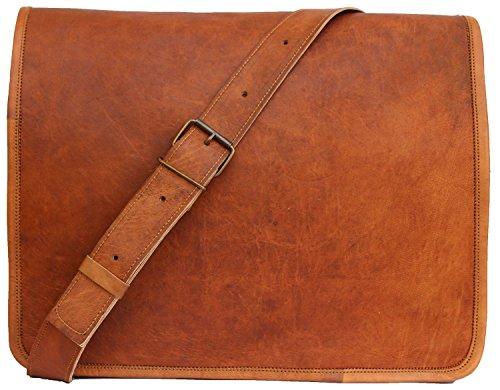 Handmadecraft Classic Leather Satchel Laptop Bag