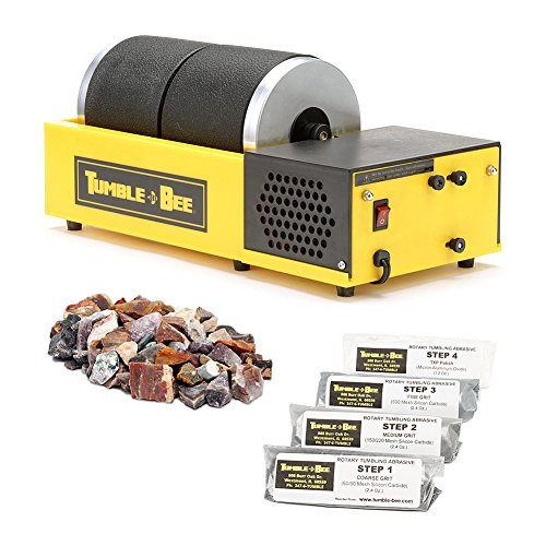 Tumble-Bee Rotary Rock Tumbler | Includes Rock Grit Polis...
