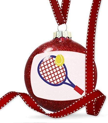 Raqueta de Tenis Azul con diseño de Pelota de Tenis, Adornos de ...