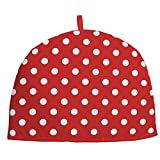 Rushbrookes by Dexam Red Flamenco Spot Cotton 2 Cup Tea Cosy