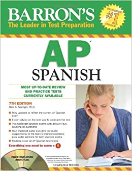 Book Barron's AP Spanish with Audio CDs by Alice G. Springer Ph.D. (2011-02-01)