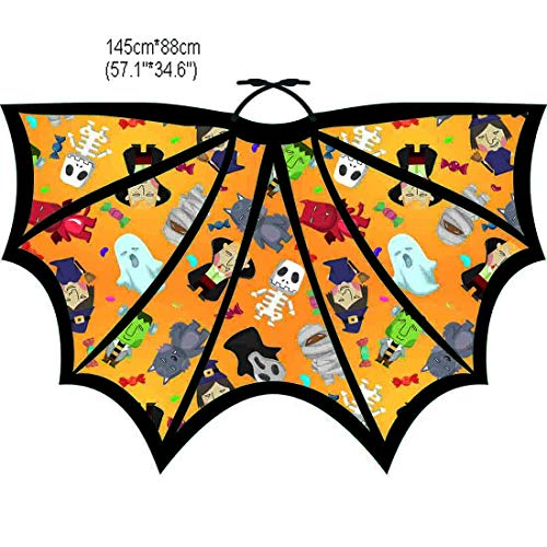 Halloween Party Soft Fabric Butterfly Wings Shawl Fairy Ladies Nymph Pixie Costume Accessory (8# Yellow) ()