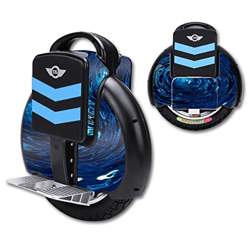 MightySkins Protective Vinyl Skin Decal for TG-F3 Self Balancing one Wheel Electric Unicycle Scooter wrap Cover Sticker Blue Vortex