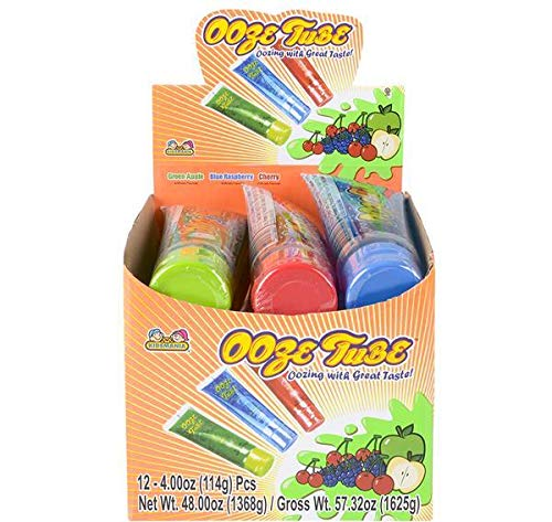 OOZE TUBE SQUEEZE CANDY, Case of 4