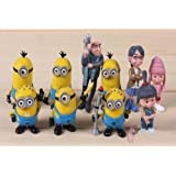 E-busienss Despicable Me 2 Minions Action Figure Doll Toys 10pcs/set Yellow, Free