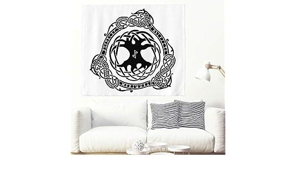 Yggdrasil - Tapiz para pared, diseño étnico escandinavo, árbol de ...