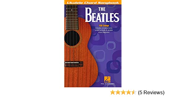 Amazon Hal Leonard The Beatles Ukulele Chord Songbook Hal