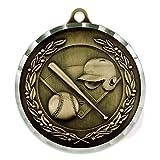 Baseball Award Sports Bulk Medal - Gold