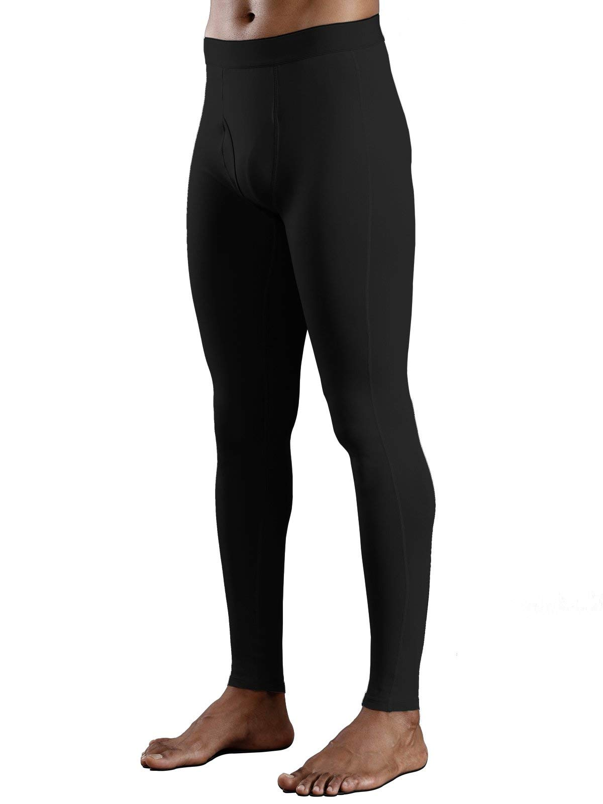 Willit Men's Thermal Underwear Pants Lightweight Fleece Lined Long Johns Bottoms Lightweight Base Layer Black L by Willit