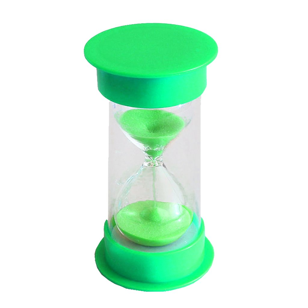 10 Minutes Hourglass Timer Green Lid & Sand - 1 min Green Generic