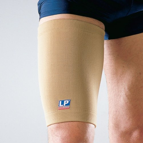 LP Four-Way Stretch Thigh Support (Unisex; Tan), Large